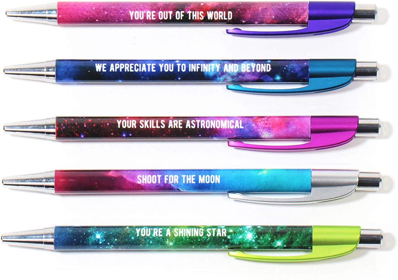 Colorful Motivational Quote Pens