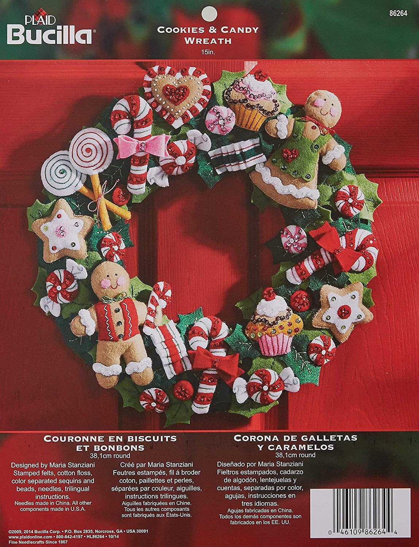 Bucilla Felt Applique Wreath Kit