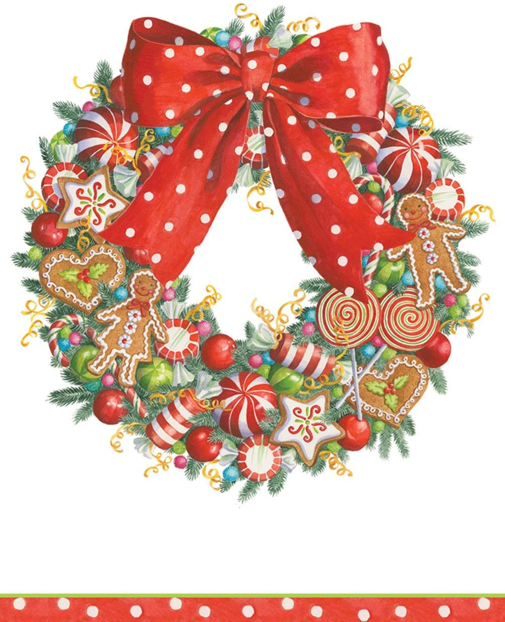 Entertaining with Caspari Candy Wreath Paper Guest Towels