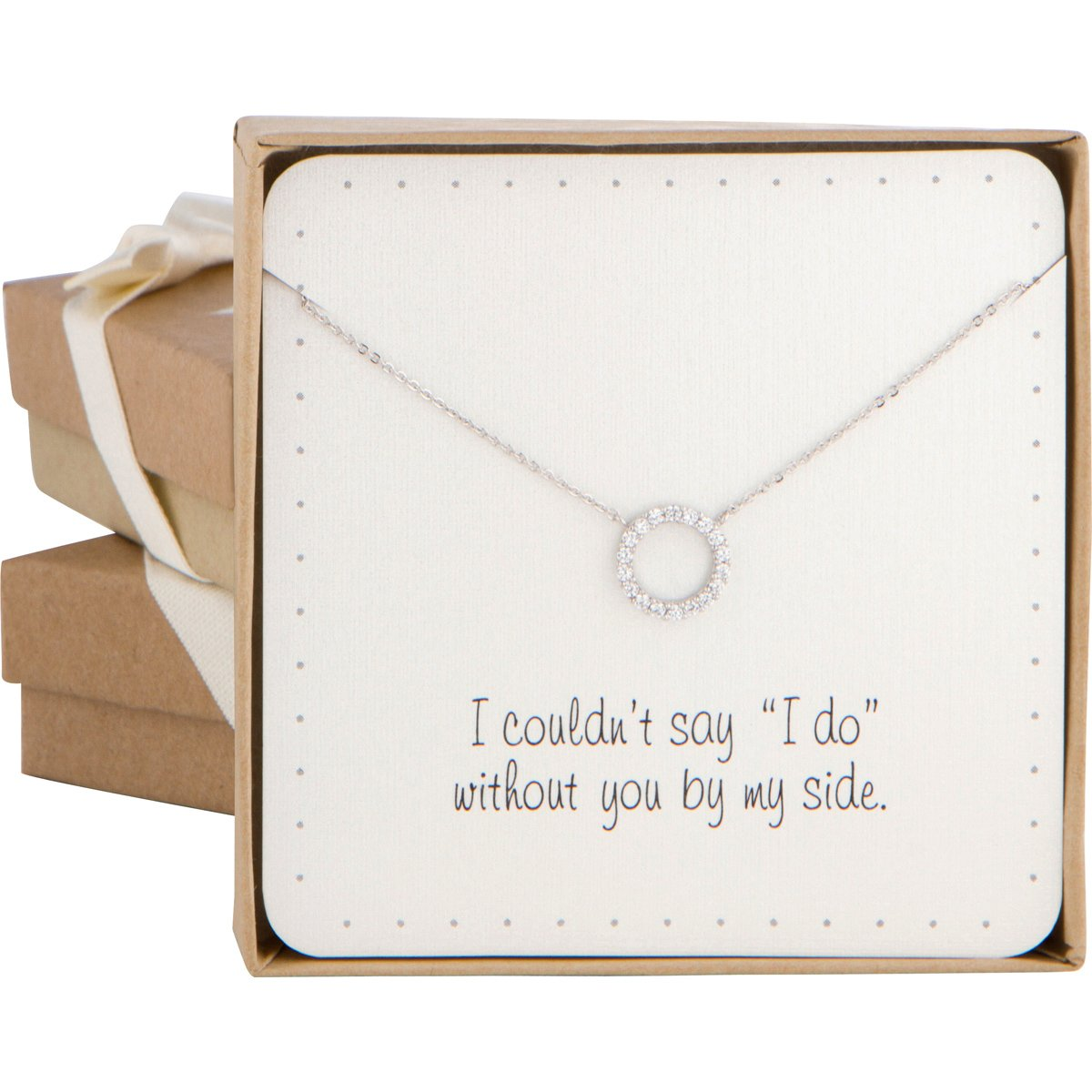 Dainty Open Circle Cubic Zirconia Necklace