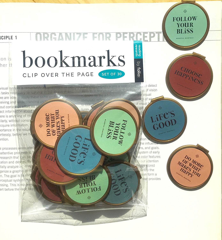 Folio Mantra Quote Bulk Bookmarks Set of 30