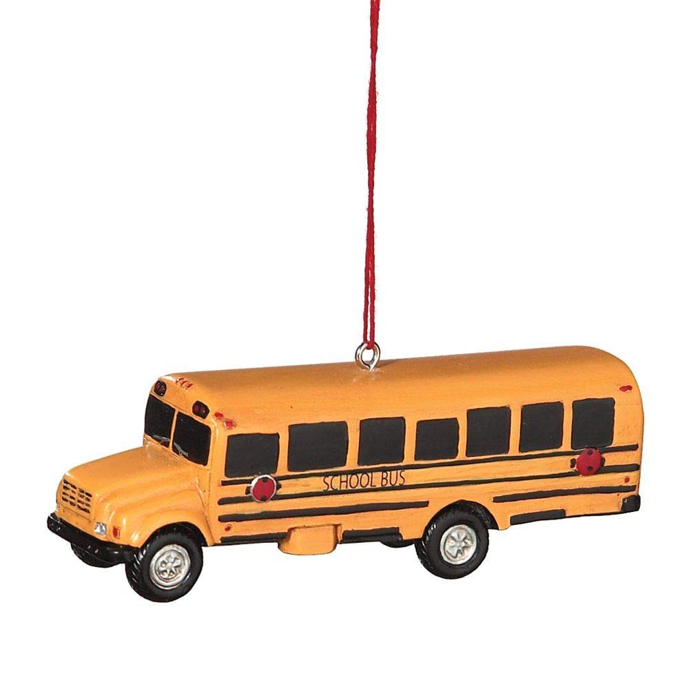 Hanging bus ornament - Bus Driver appreciation gift