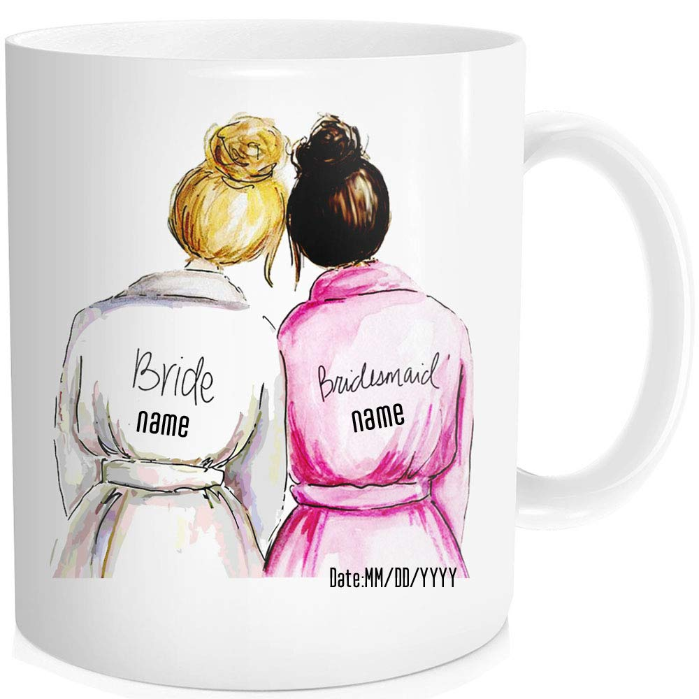 Personalized Novelty Wedding Gifts Coffee Mugs - Bridesmaid gift ideas under 20