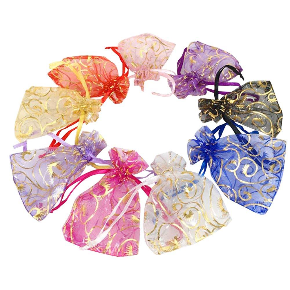 olor Eyelash Organza Small Sheer Mesh Gift Bags