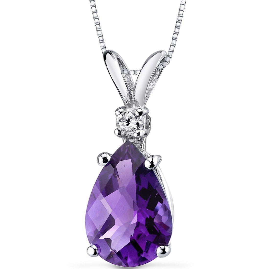 Carats Amethyst Diamond Pendant