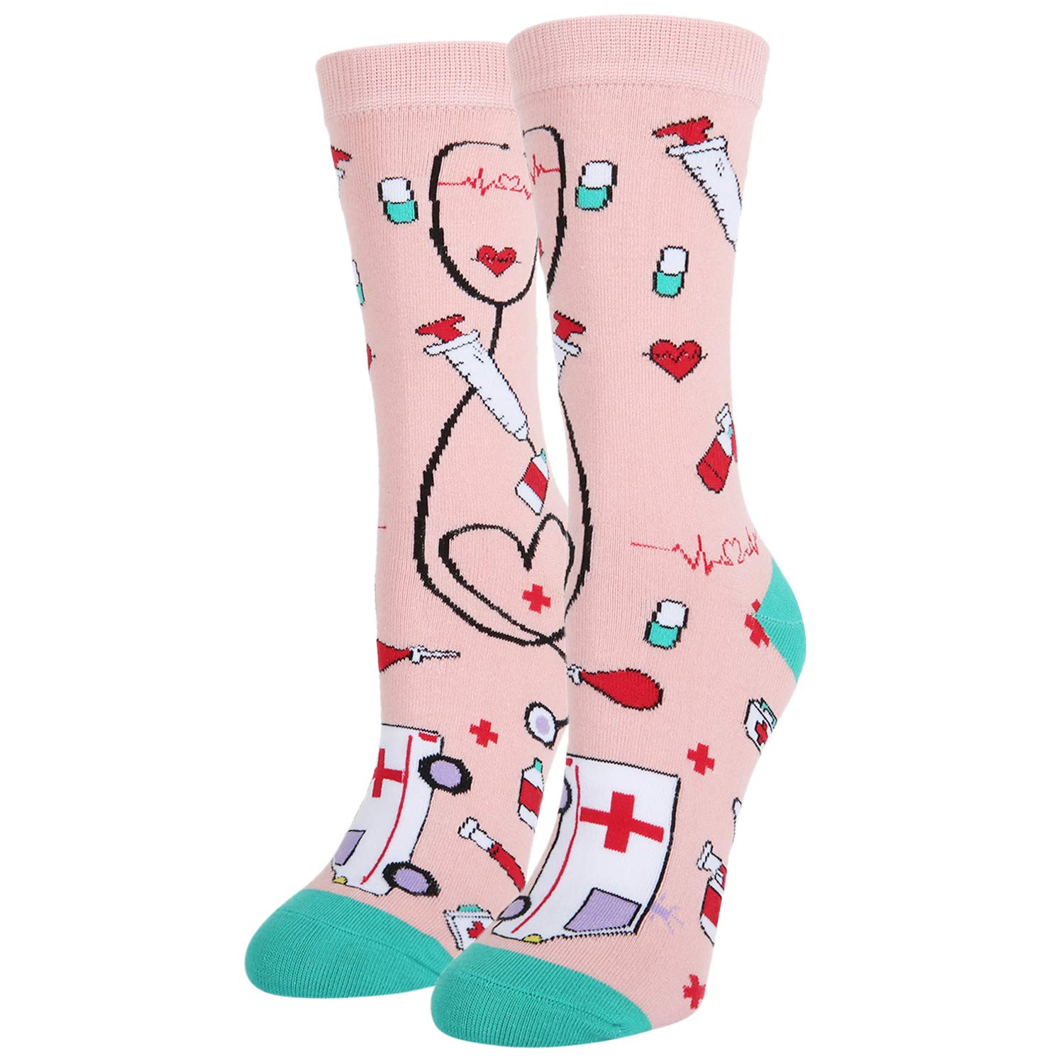 Women's Novelty Crazy Teeth Tool Crew Socks