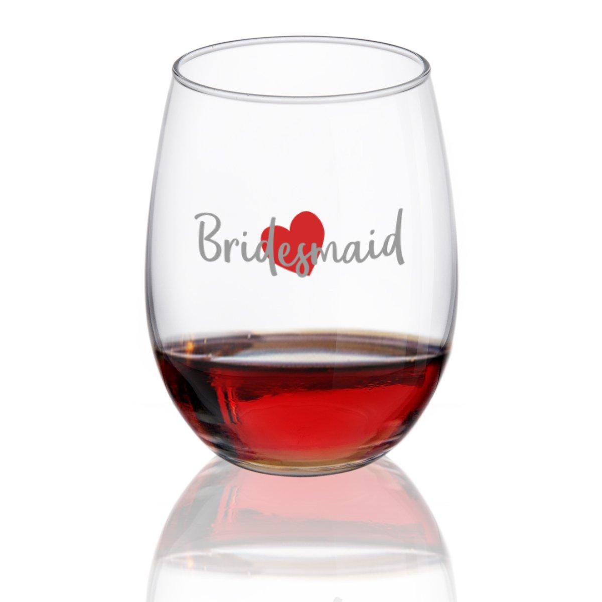 Bridesmaid Wine Glasstemless Wine Glasses for Bride Tribe
