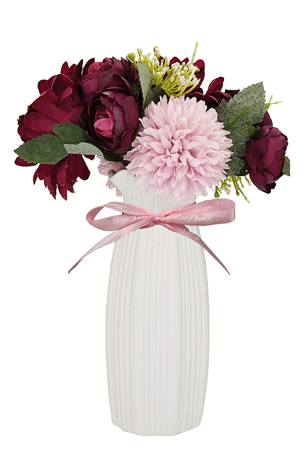 Artificial Bouquets with Ceramic Small Vase