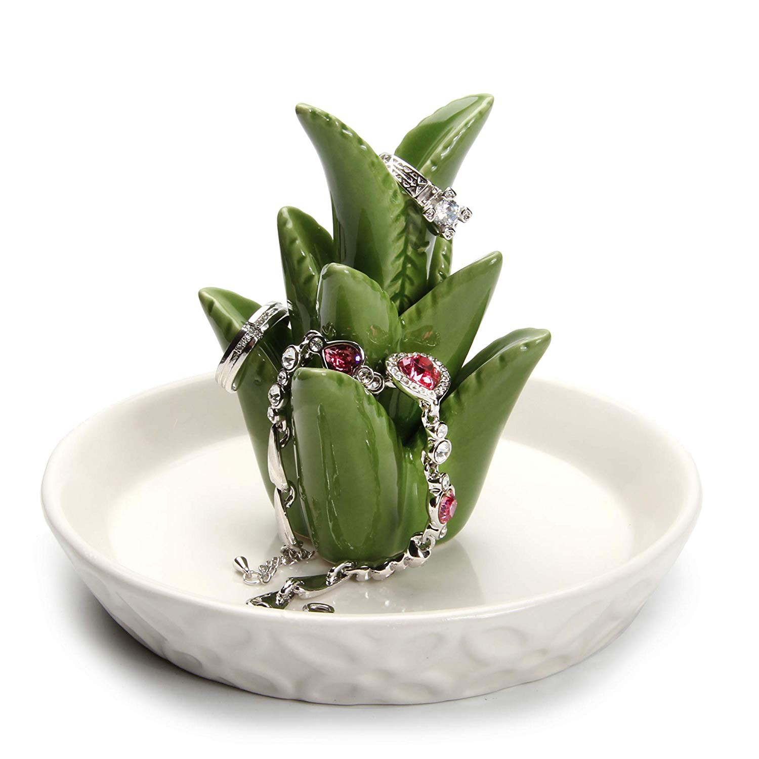 13th wedding anniversary gift ideas - Porcelain jewelry tray