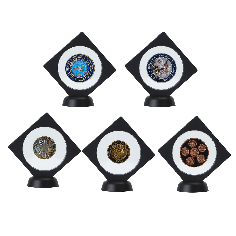 Medallion Coin Gemstone Jewelry - geologist gift ideas