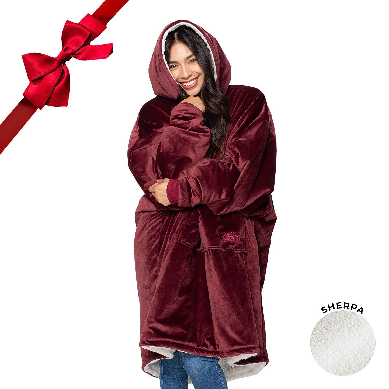 Oversized Sherpa Blanket Sweatshirt