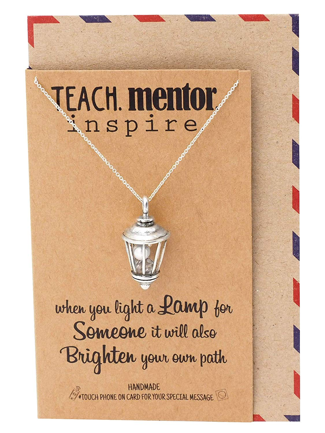 Street Lamp Necklace with Greeting Card
