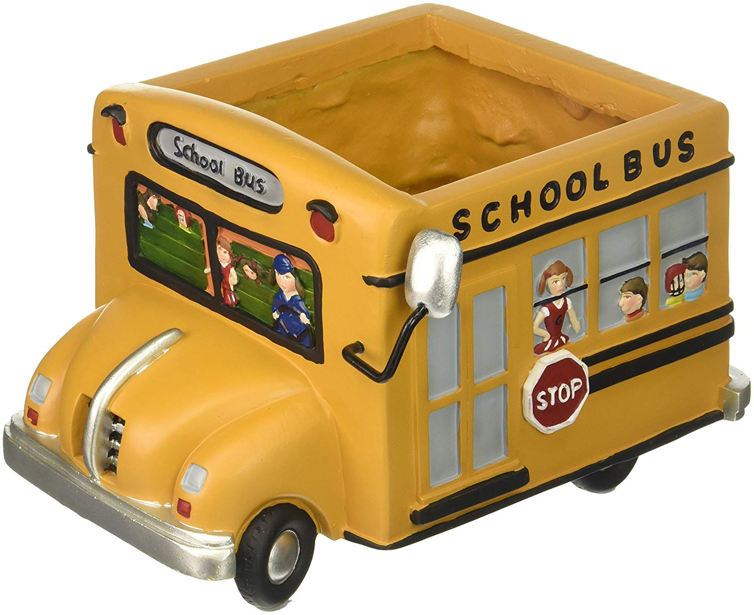 A school bus shaped planter - Bus Driver Gifts