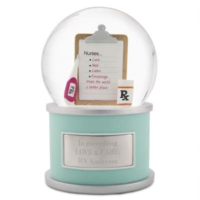 Personalized Nurse Snow Globe with Engraving Included