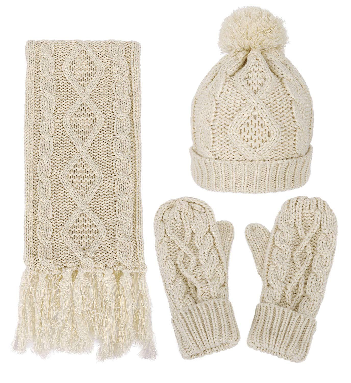 Hat Scarf & Gloves Winter Set